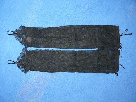 čipkované rukavičky s ozdobnou šnurovačkou, 36