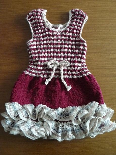 Ozdobné pletené šatky pre 2 ročné dievčatko, 92