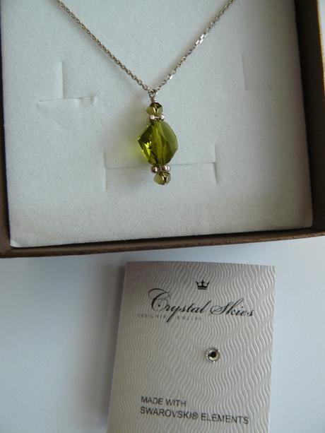 Unikátny strieborný swarovski šperk Crystal Skies,