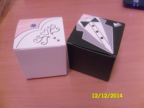 Originálne krabičky na darčeky pre hostí,