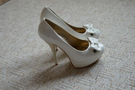 Bílé svatební střevíčky velikost 38, 38