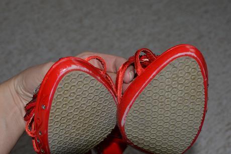Střevíčky červené barvy velikost 37, 37