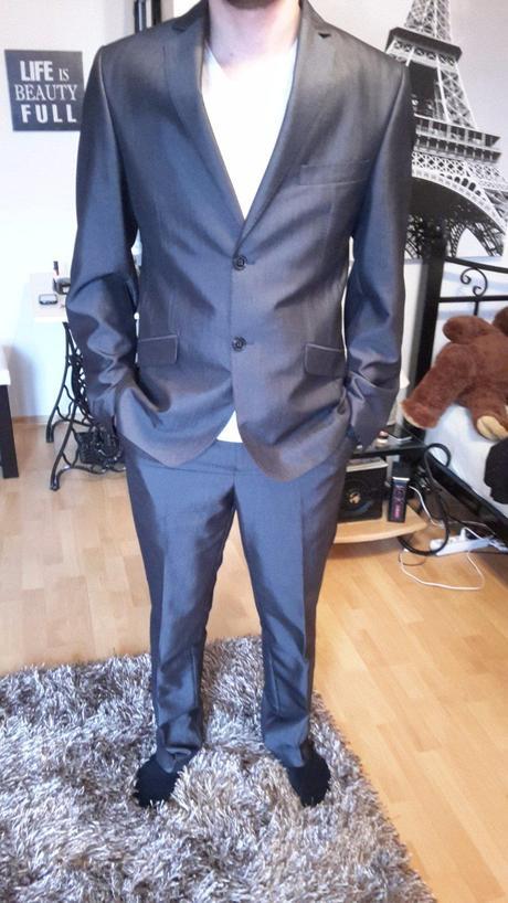 Oblek pánsky slim fit, 38