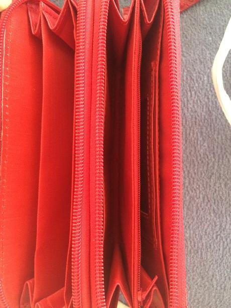Červená peněženka/minikabelka,
