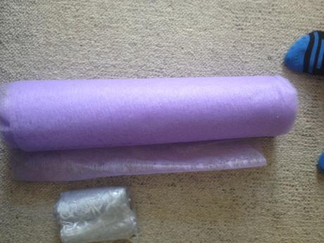 Vlizelín lila šíře 50cm, délka cca 17m,