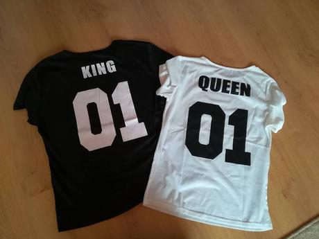 tričká king a queen,
