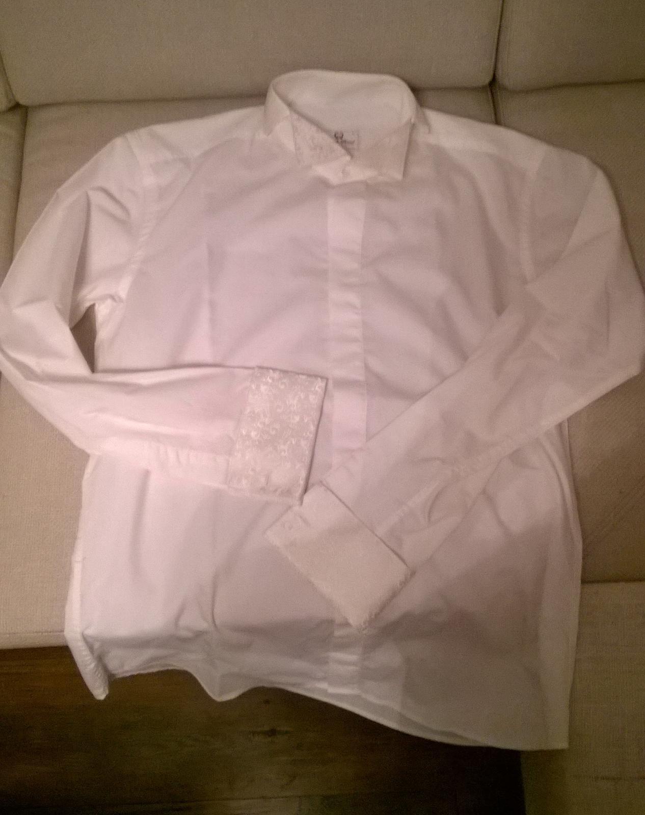 197136a5f54e Pánska svadobná košeľa s kravatou