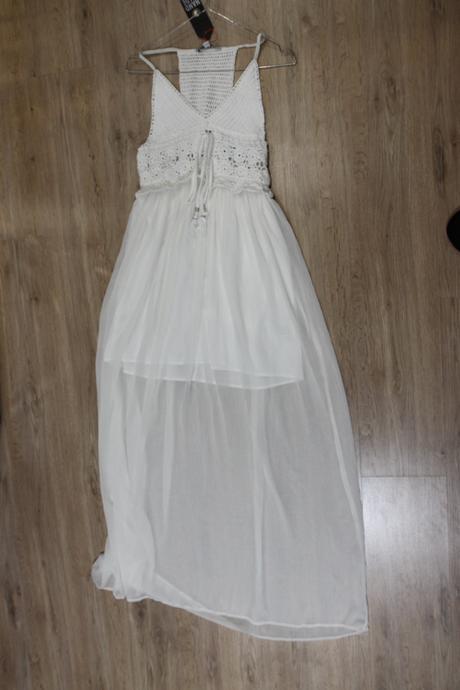 Biele jemnučké Boho šaty pre jemnú vílu, 34