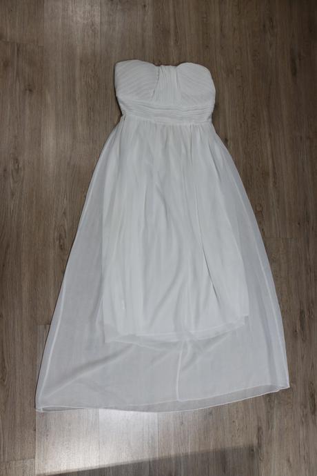 Biele korzetové šaty na zips, 38
