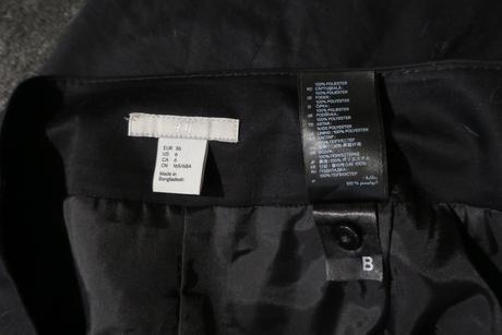 Čierna puzdrová sukňa H&M, 36