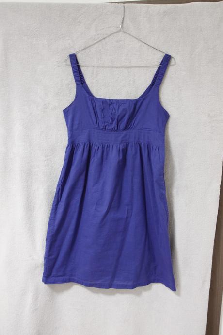 Modré ľahké šatičky z bavlny, 36