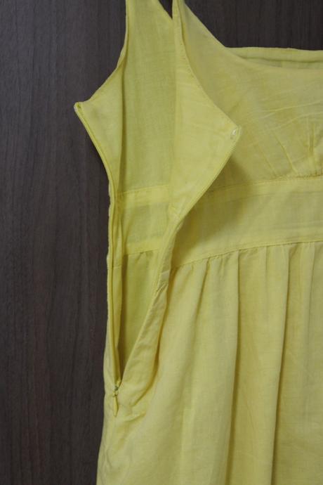 Žlté ľahké šatičky z bavlny, 36