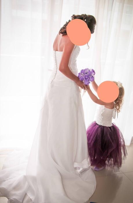 Šaty pro družičku - bílo fialové - 2-4 roky, 104
