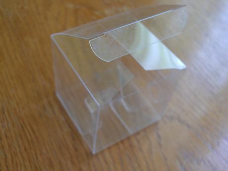 Průhledné krabičky 6x6x6cm ,