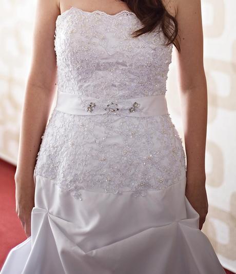 Svatební šaty vel.38/42 + spodnice, 40