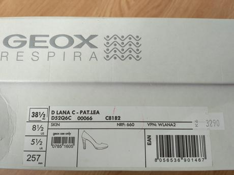 GEOX celokožené lodičky pleťové nepoužité,vel.38,5, 38