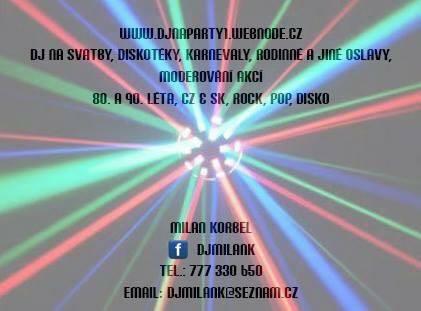 Svatební DJ - DJ Milan Korbel,