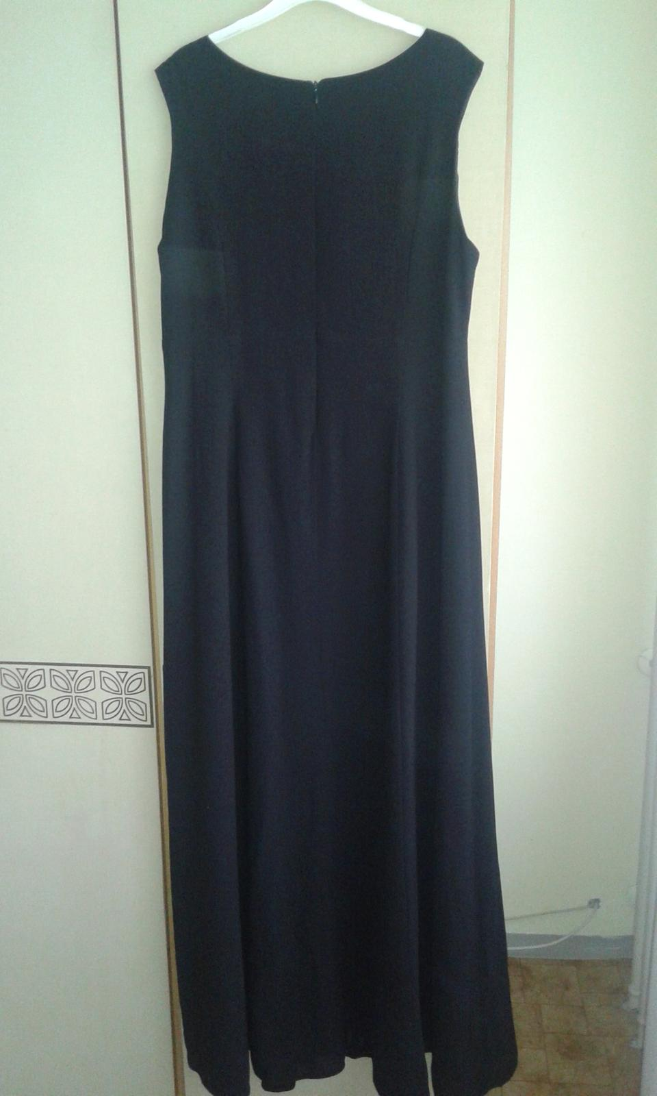 Nenosené čierne dlhé šaty č. 46 731e3faba3f