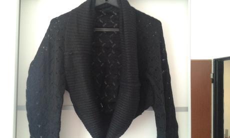 Čierne pletené bolerko, XL