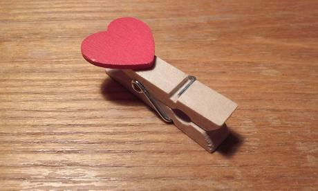 Kolíčky se srdíčky (10 ks),