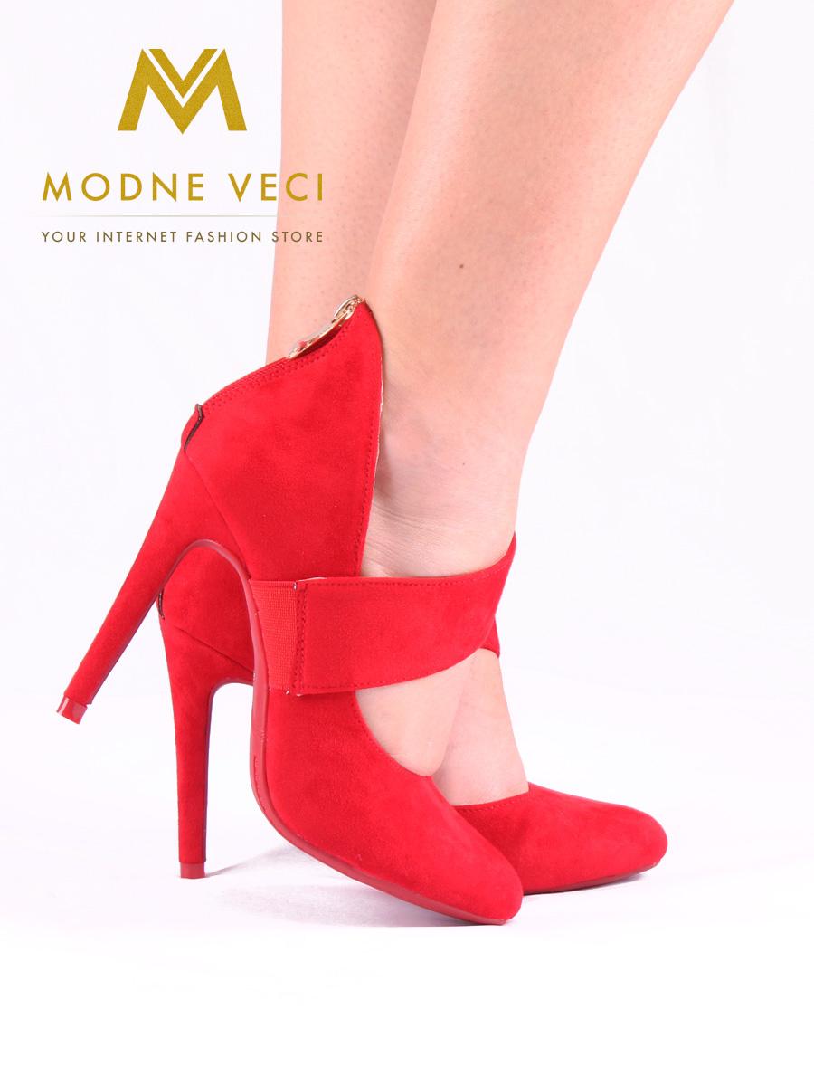 90935cf4eddd Červené topánky na ihličkovom podpätku 36-40