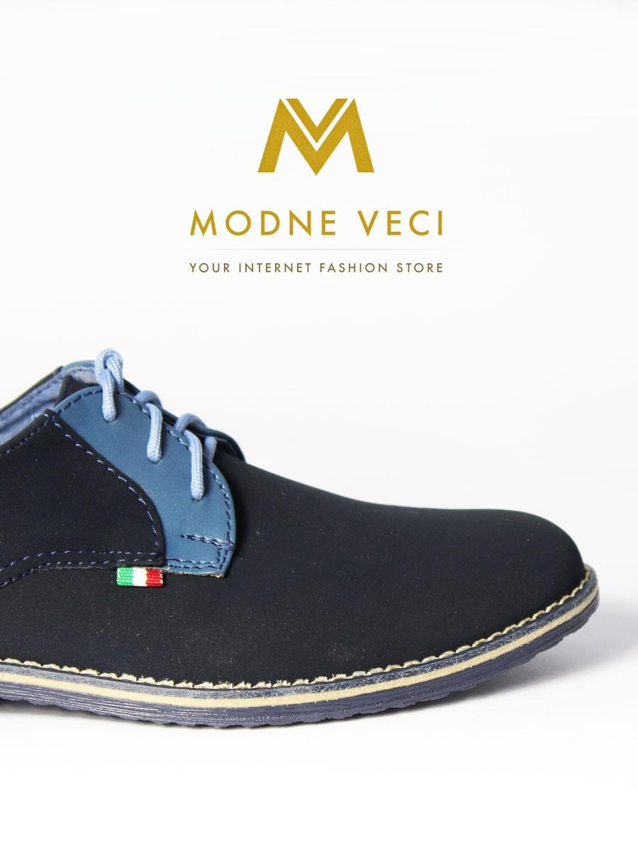 9b3ba772cd Chlapčenské spoločenské topánky 209 - modré
