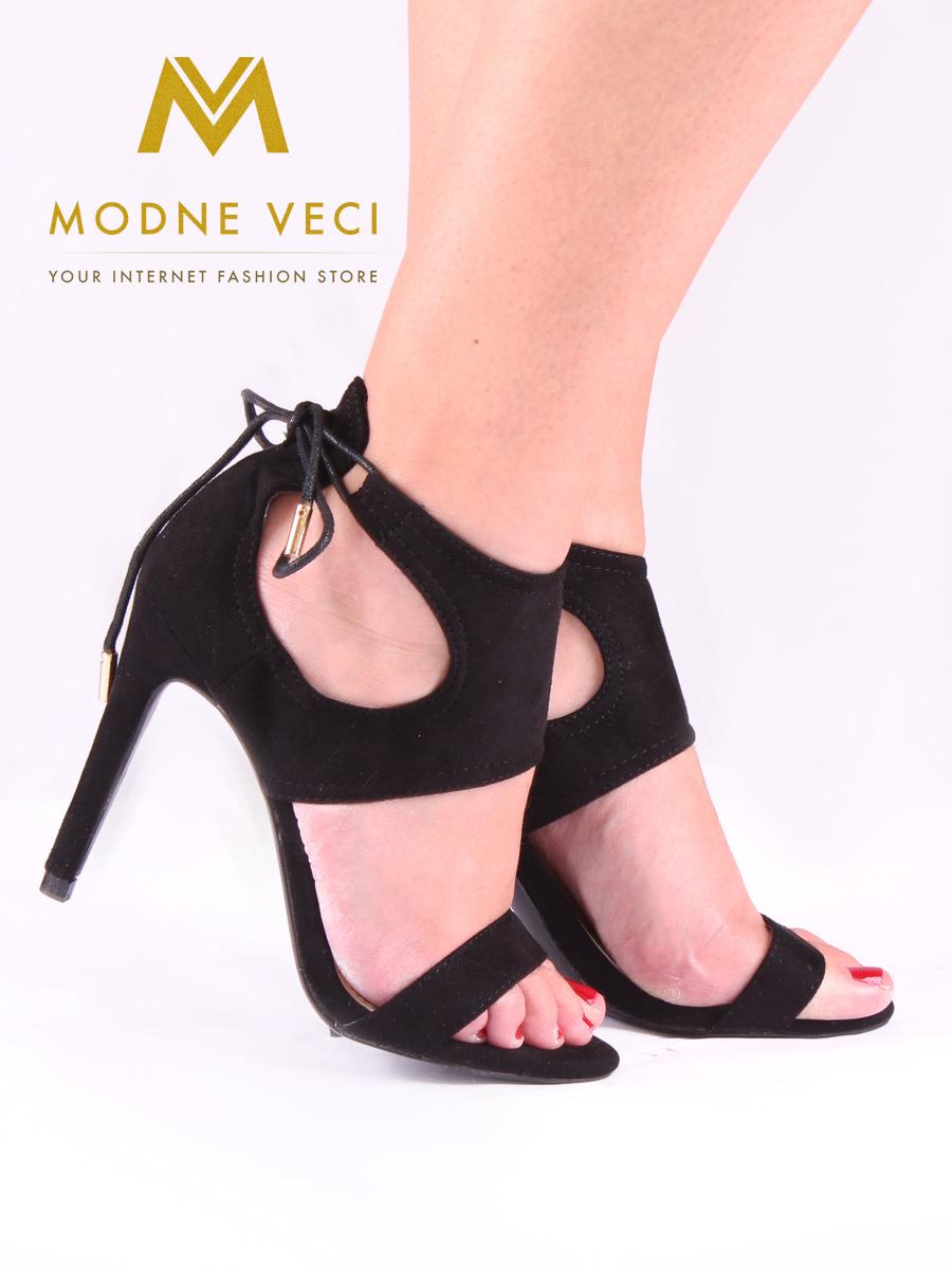 cbd40fa9925e Čierne dámske sandále bez platformy 35-40
