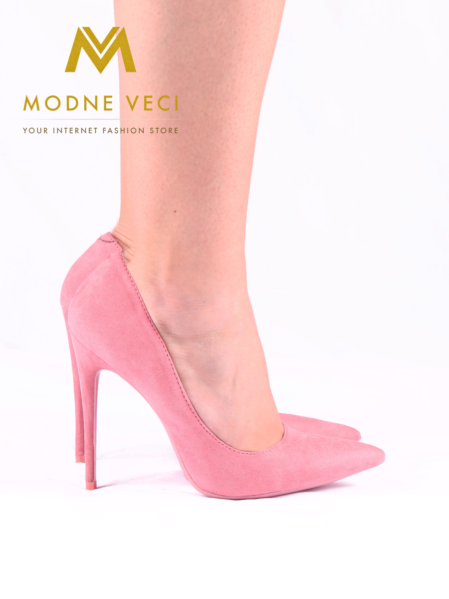 ace167ba32 luxusné semišové ihličkové lodičky ružové 35-40