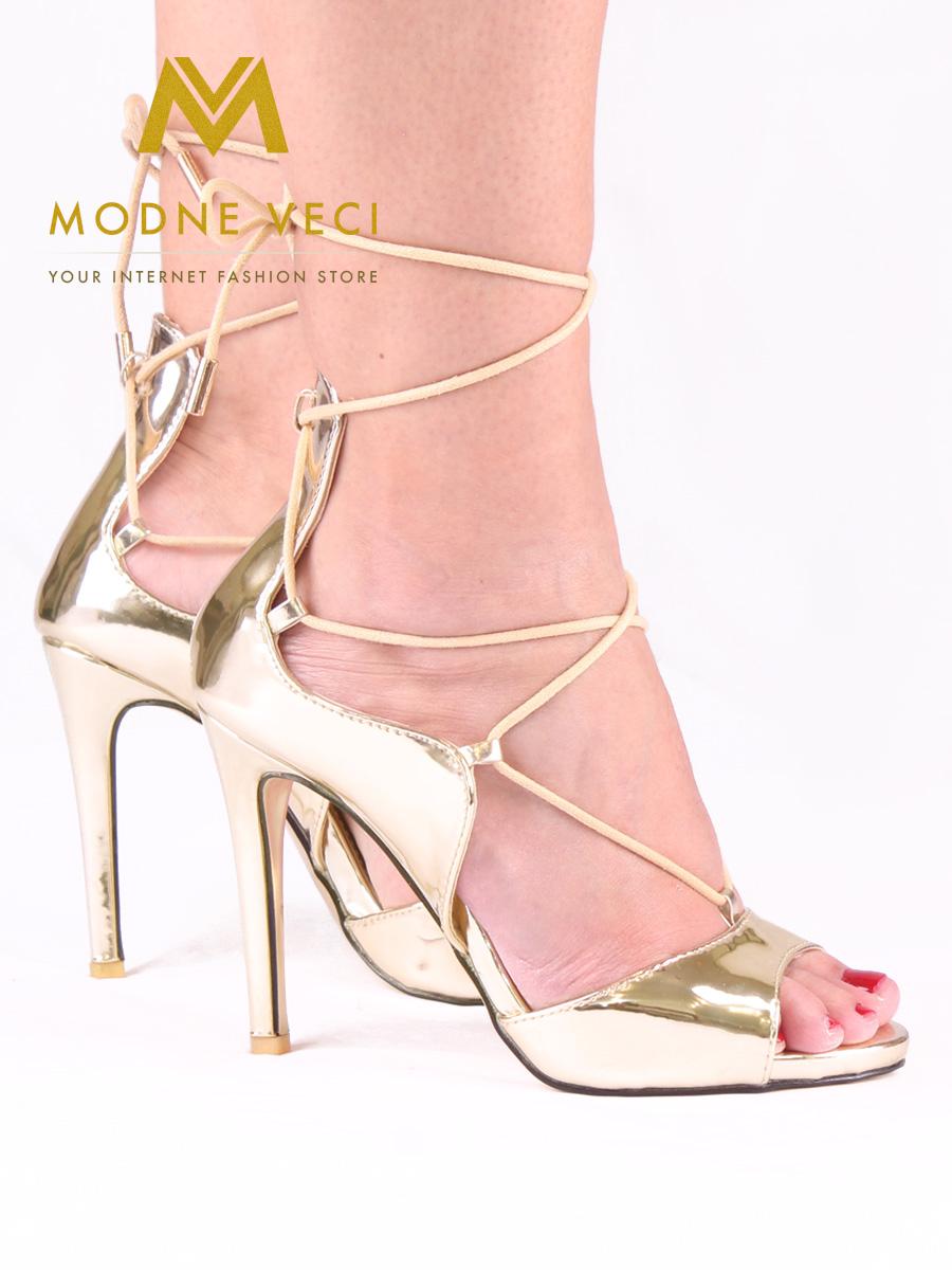 4b6e631888 Zlaté metalické sandálky 35