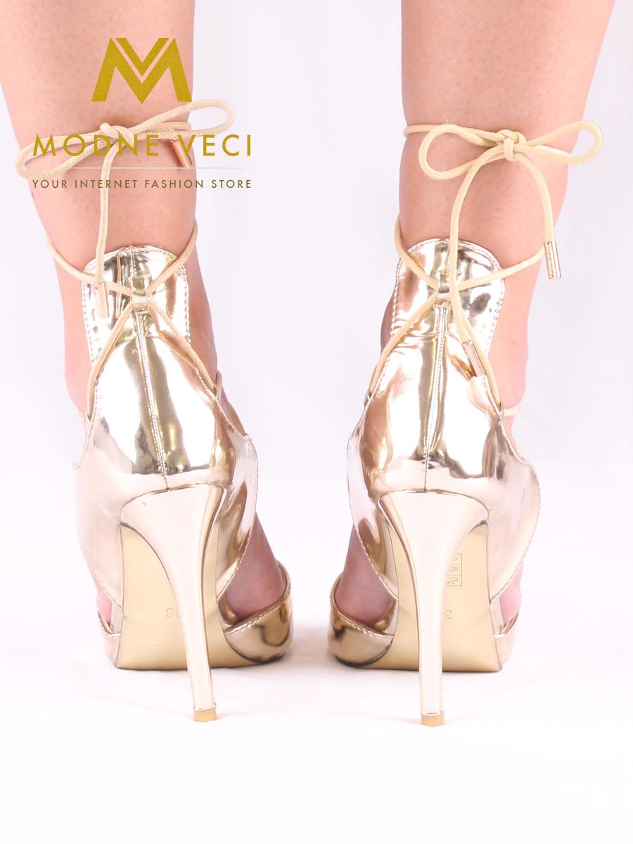 c7ef3195a376 Zlaté metalické sandálky 35