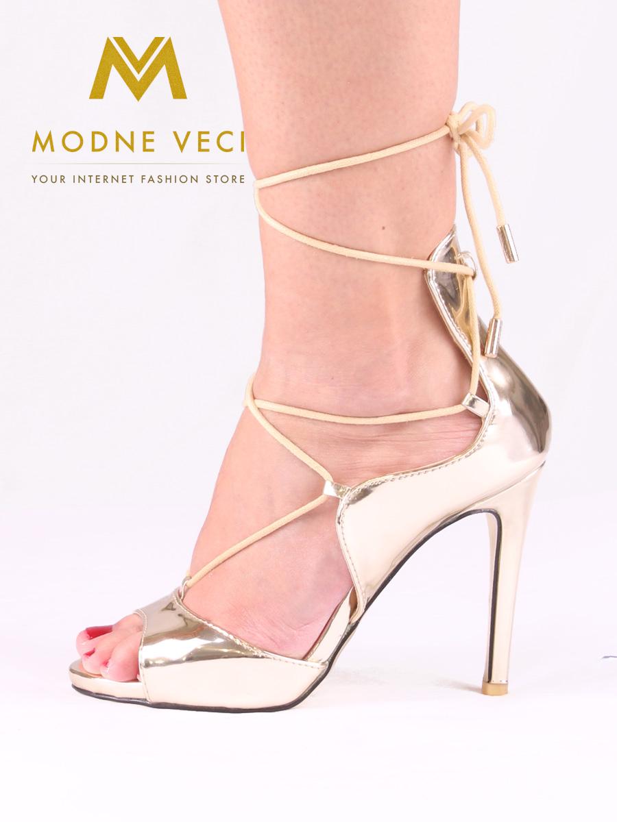 8c9f123c0d9e Zlaté metalické sandálky 35