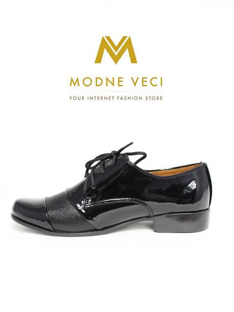 chlapčenske spoločenské čierne kožené topánky 22, 40