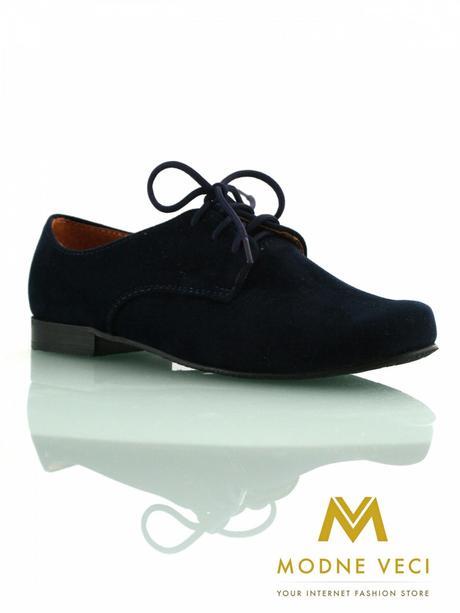 chlapčenske spoločenské modré kožené topánky 21, 38