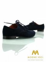 chlapčenske spoločenské modré kožené topánky, 25