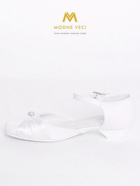 faf1d0585ce5 Dievčenské topánky na 1. sv. prijímanie biele 90