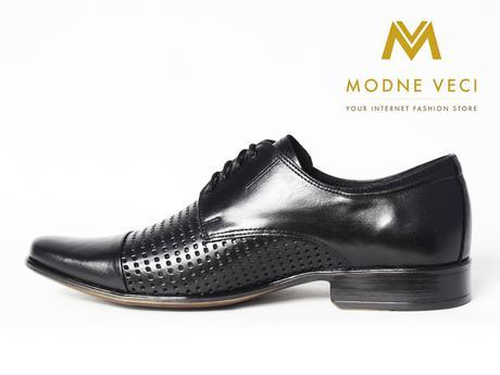 Elegantné kožené topánky 218 veľkosti 39-46 čierne, 39