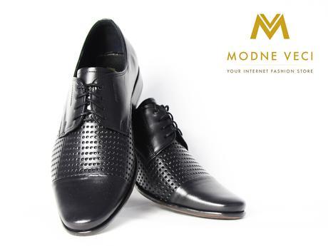 Elegantné topánky - kožené model 218 - čierne, 39