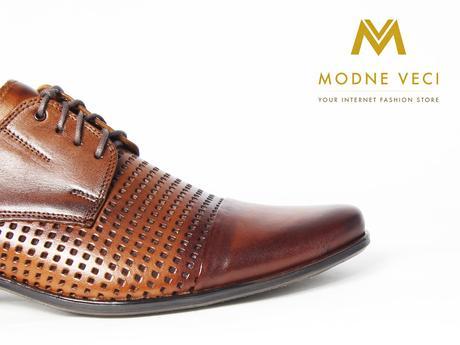 Elegantné topánky - kožené model 218 - hnedé, 41