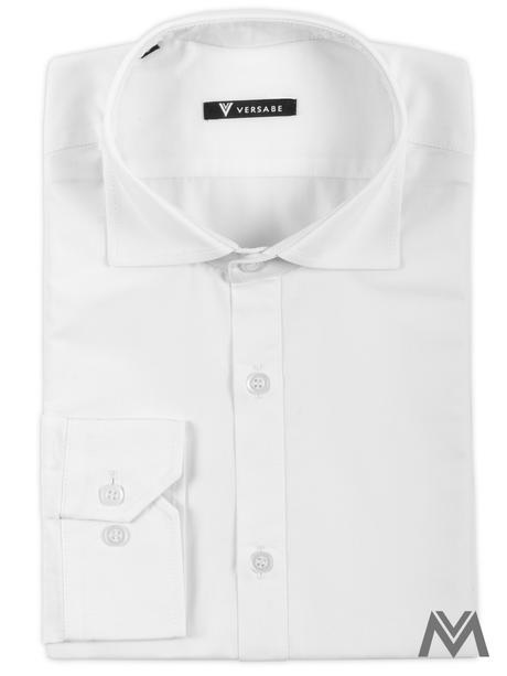 Pánska košeľa so žraločím golierom VS-PK1739 biela, 42