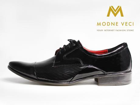 Pánske spoločenské kožené topánky, 39-45 lakovky , 43