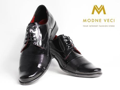 Pánske spoločenské kožené topánky 82 lakovky, 42