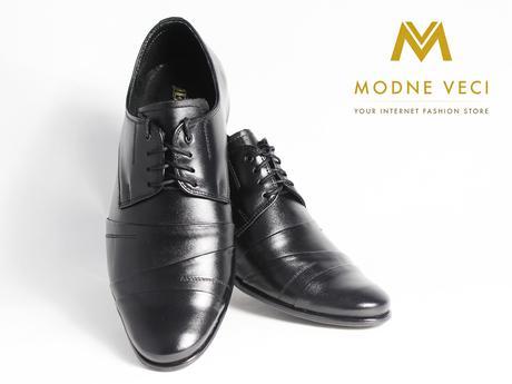 Pánske spoločenské kožené topánky čierne 116, 38