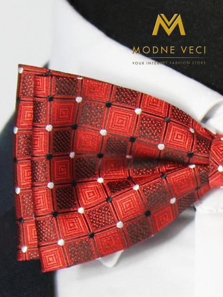 Pánsky motýlik červený vzor 01 ,