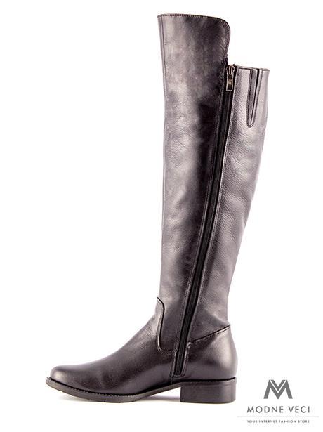 b28de2ef29 Vysoké čižmy nad kolená kožené ema 04 čierne 36