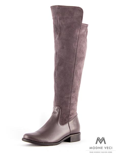 cbe8f68019d29 Vysoké čižmy nad kolená kožené ema 04 sivé 36, 40 - 98,90 € | Svadobné  shopy | Mojasvadba.sk