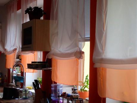 Zaclony rímske rolety zelene a oranžové ,