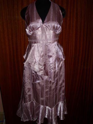 Svadobný ružový komplet - sukňa + topík č. 38/40, M
