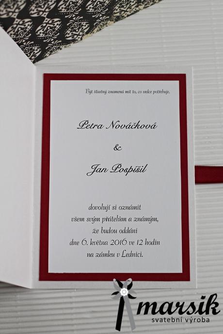 Svatební oznámení,