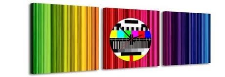 3 dielne obrazové hodiny Testpage, 35x105cm,