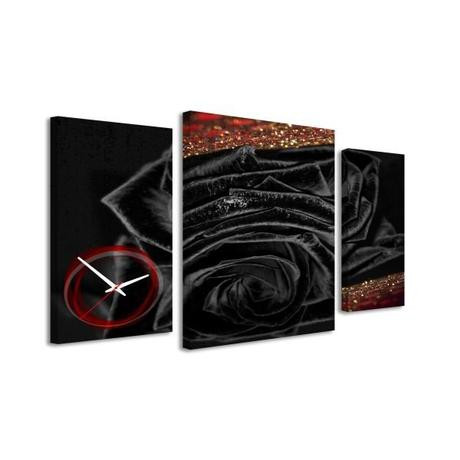 3-dielný obraz s hodnami, Black rose, 95x60cm,